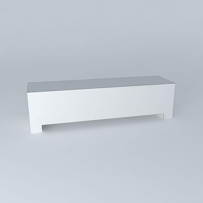 tv stand conforama brest free 3d model max obj 3ds fbx. Black Bedroom Furniture Sets. Home Design Ideas