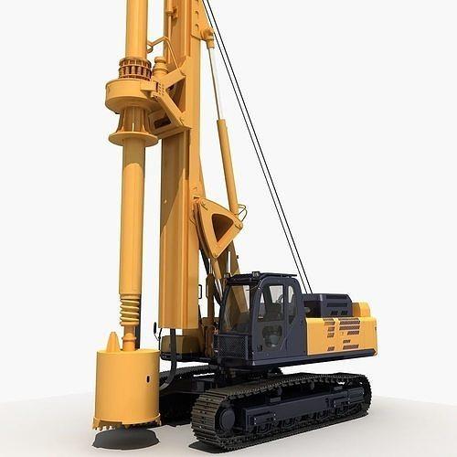 rotary drilling rig  3d model max fbx 1