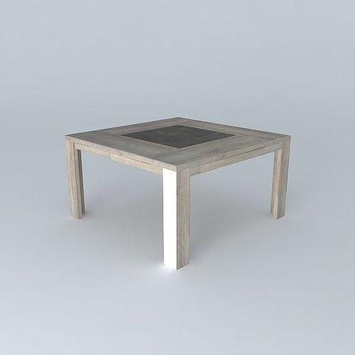 Square table conforama brest free 3d model max obj 3ds fbx stl dae cgtrader - Table evolutive conforama ...