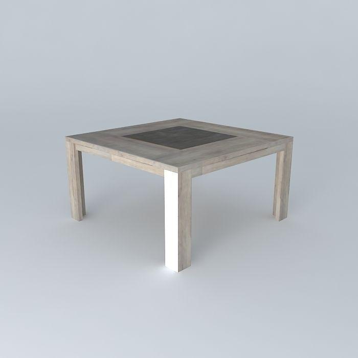Square table CONFORAMA Brest free 3D Model MAX OBJ 3DS FBX