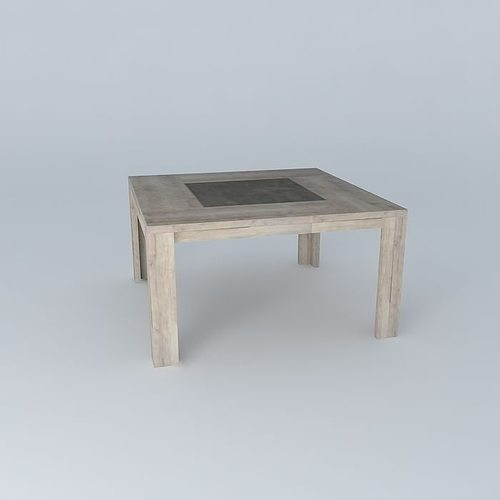 Square table conforama brest 3d cgtrader for Table conforama pliable