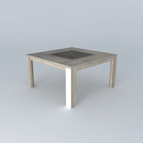 Square table conforama brest free 3d model max obj 3ds for Table conforama pliable