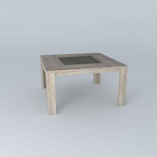 Square table conforama brest free 3d model max obj 3ds fbx stl dae cg - Table evolutive conforama ...
