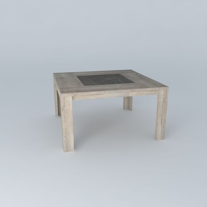 Square table conforama brest free 3d model max obj 3ds fbx stl dae cg - Table baroque conforama ...