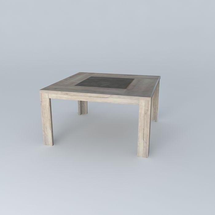 Square table conforama brest free 3d model max obj 3ds fbx stl dae cg - Conforama table relevable ...