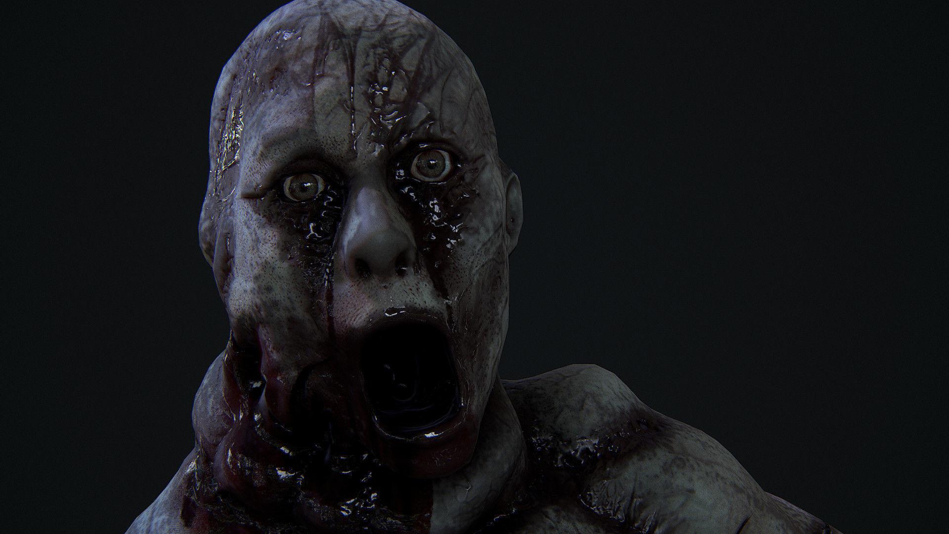 Very creepy Deformed woman
