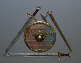 3D asset viking set 1
