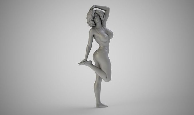 beach girl 3d model obj mtl stl 3mf 1