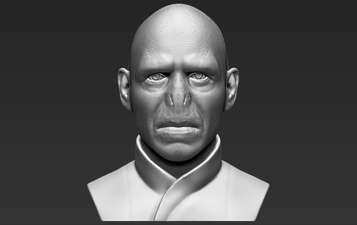 Lord Voldemort bust 3D printing ready stl obj formats