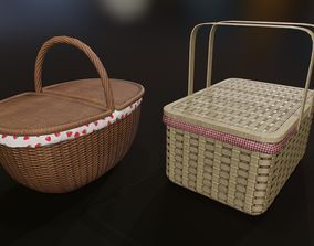 3D model realtime Wicker basket