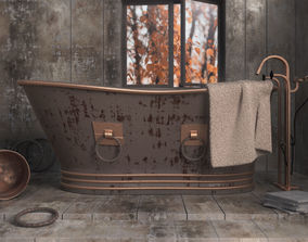 OLD STYLISH BATHTUB 3D model