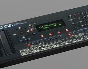 Synthesizer Roland D-05 3D asset