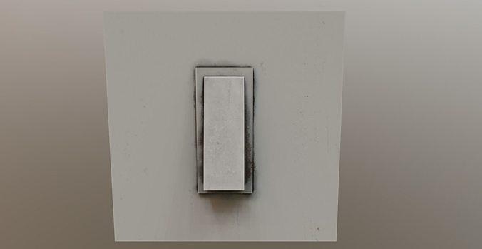 old light switch pbr 3d model low-poly obj mtl 3ds fbx blend tga 1