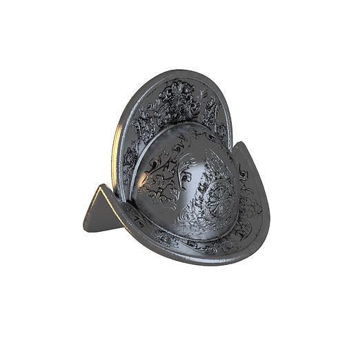 ancient metal helmet  3d model max obj mtl fbx 1
