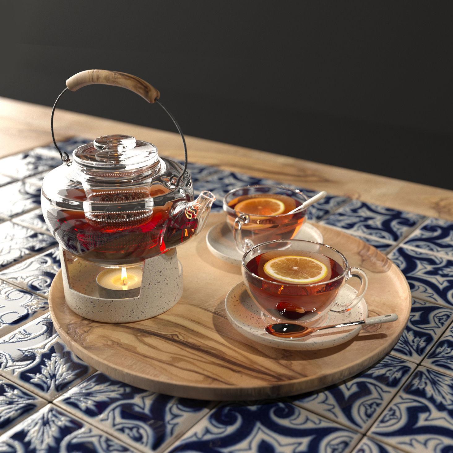 Arabic tea set