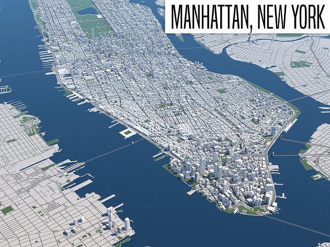 new york 3d model max obj mtl fbx 1