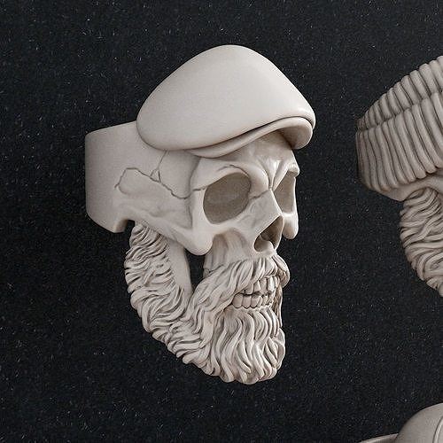 ring skull 3d print models 3d model stl 1