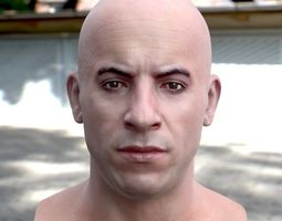 3d model Vin Diesel head VR / AR ready