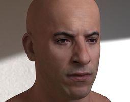 3d model Vin Diesel head 3D Model