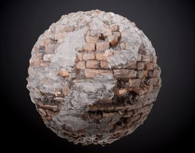 3D Brick Wall Concrete Sloppy Seamless PBR Texture