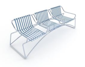 Steel furniture for terraces and balconies 3D