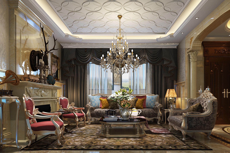 classic livingroom 8 | 3D model