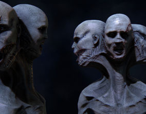 3D model The three faces Monster ANimated Very creepy