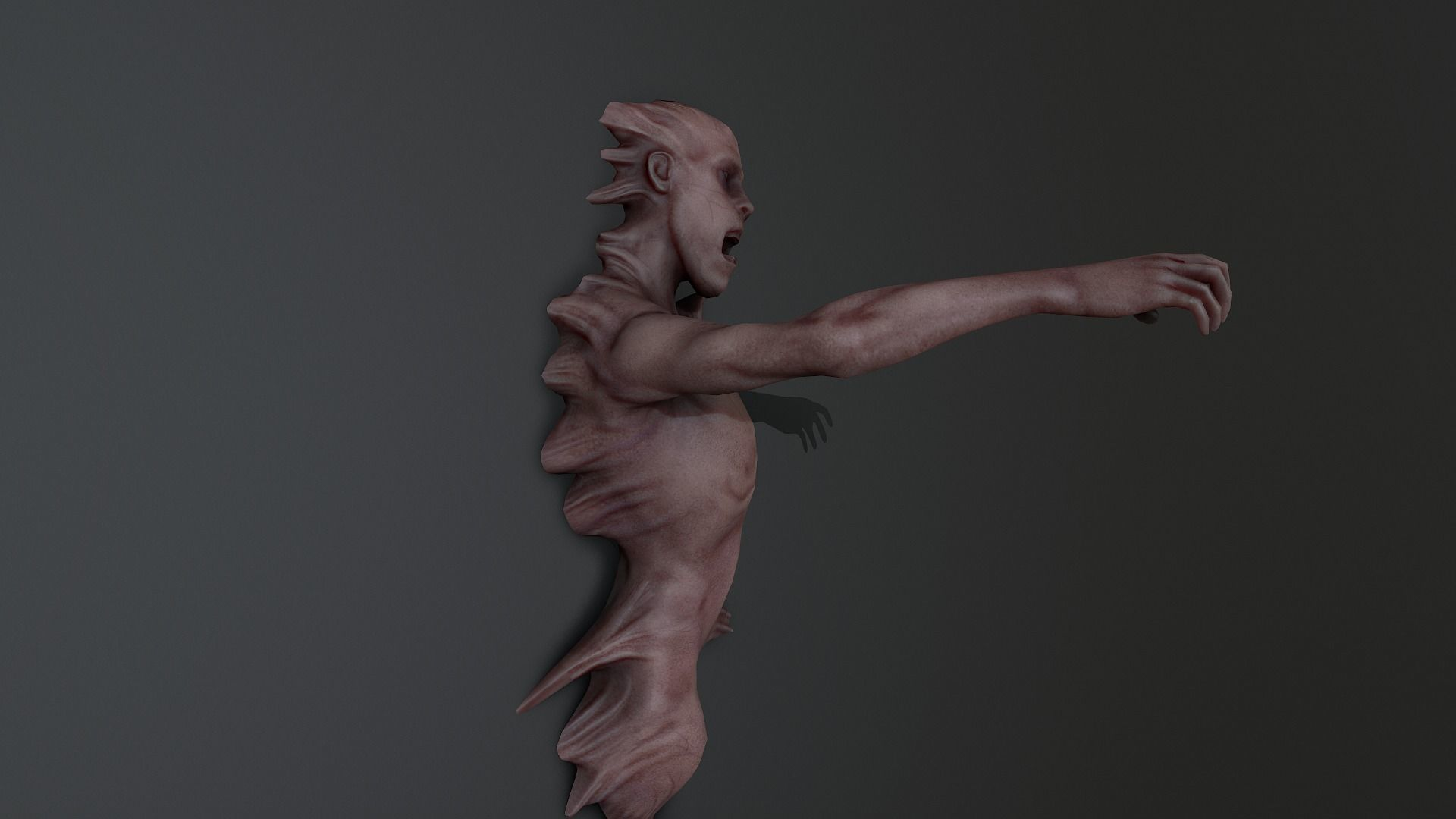 Horror man Mutated on wall ANimated
