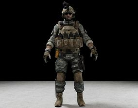 Soldier 3D model low-poly body