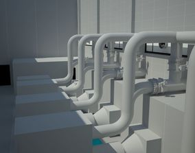 3D model wastewater treatment plant