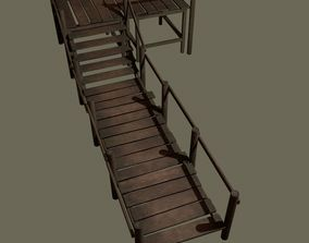 Wooden Walkway 3D model