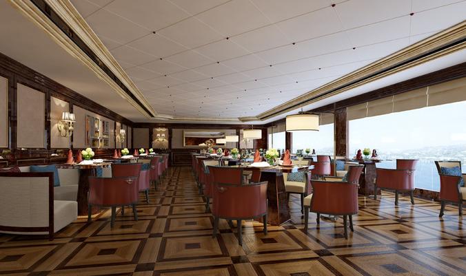 D model restaurant interior cgtrader