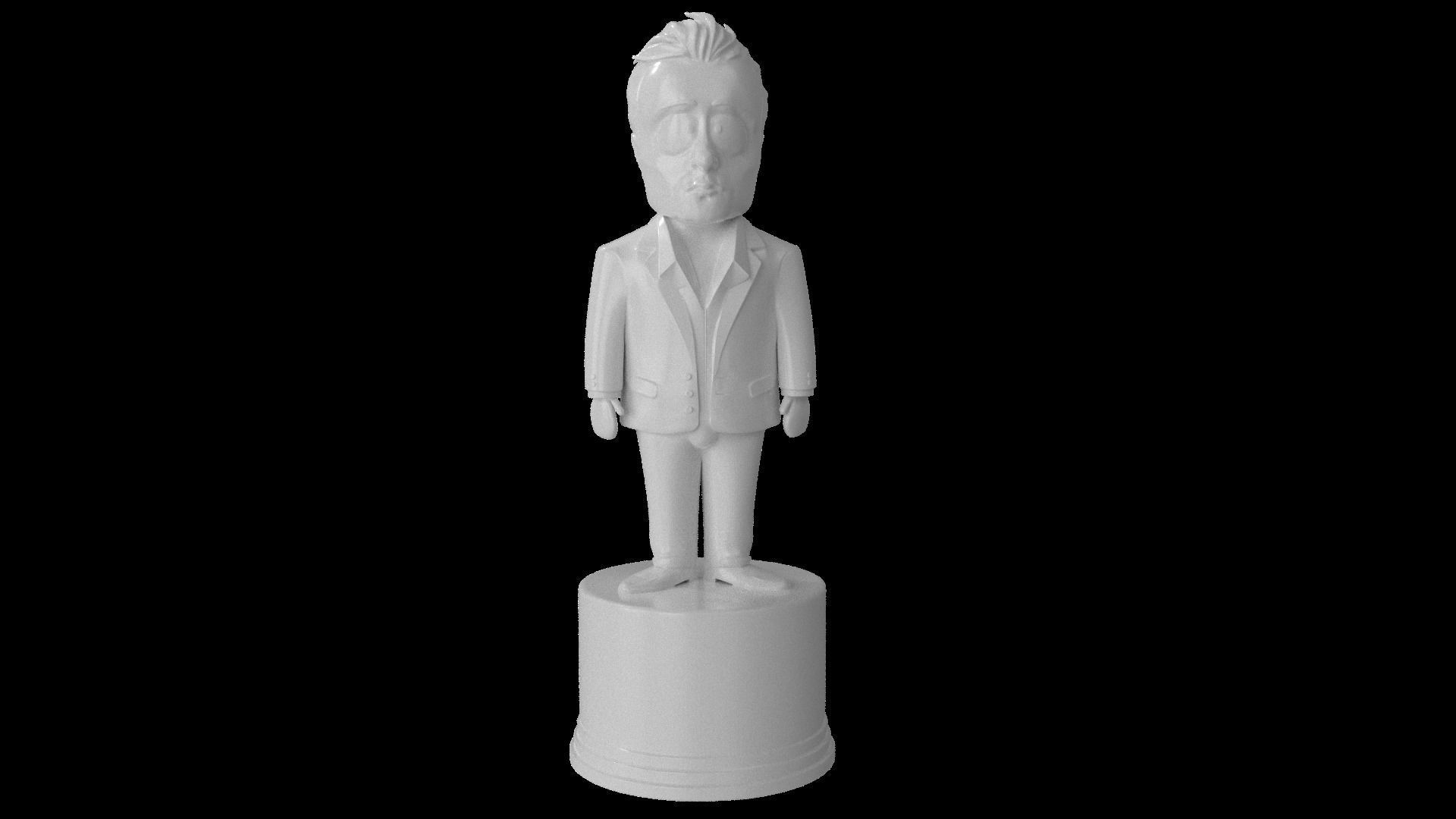 South Park styled Elon Musk statue