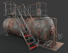 Rusted machinery device 3D