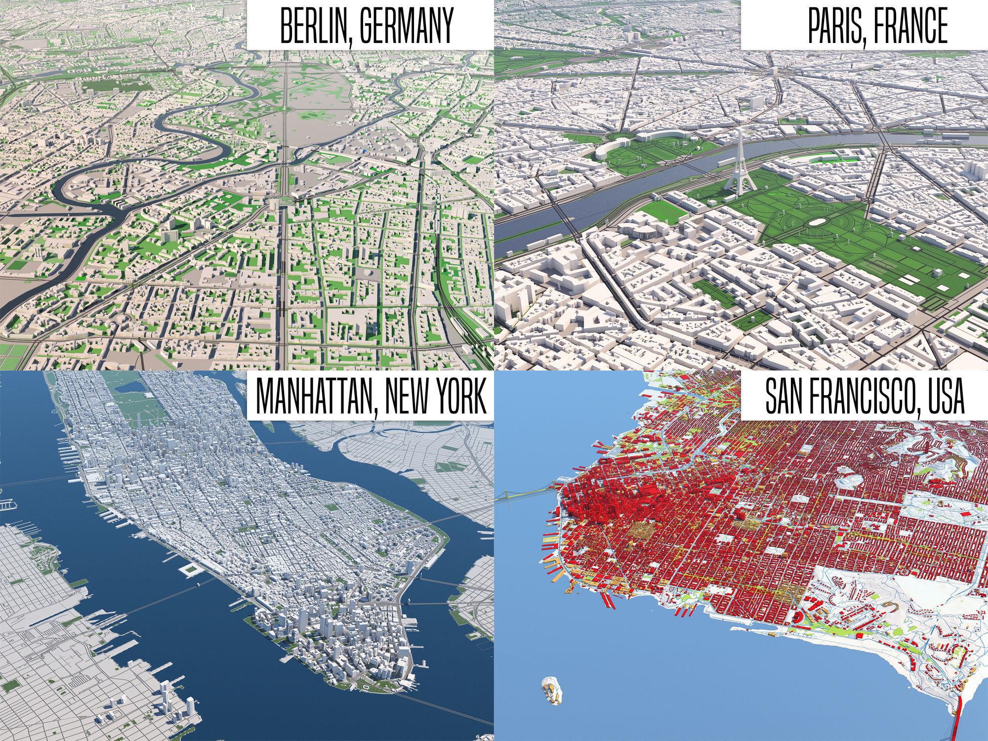 Berlin - Paris - NewYork - SanFrancisco