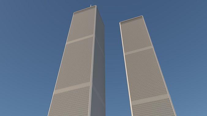 wtc tower 3d model rigged obj mtl 3ds fbx dae 1