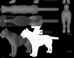 Feline 3D model realtime