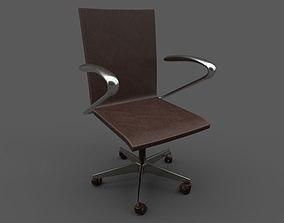 Office armchair 3D metalic