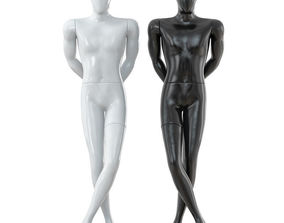 3D Faceless male mannequin 31