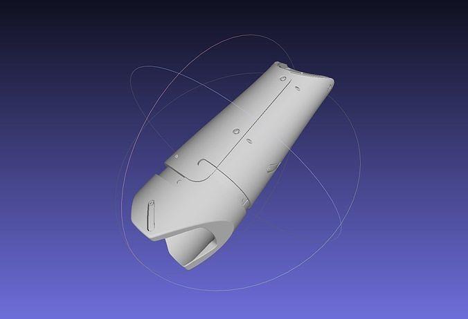 metal gear solid v venom snake prosthetic arm prop 3d model obj mtl 3ds stl sldprt sldasm slddrw ige igs iges ply 1