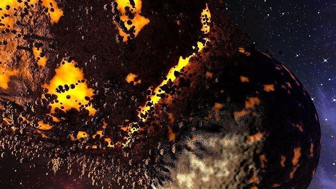shock of planet destruction animation 3d model obj mtl 1
