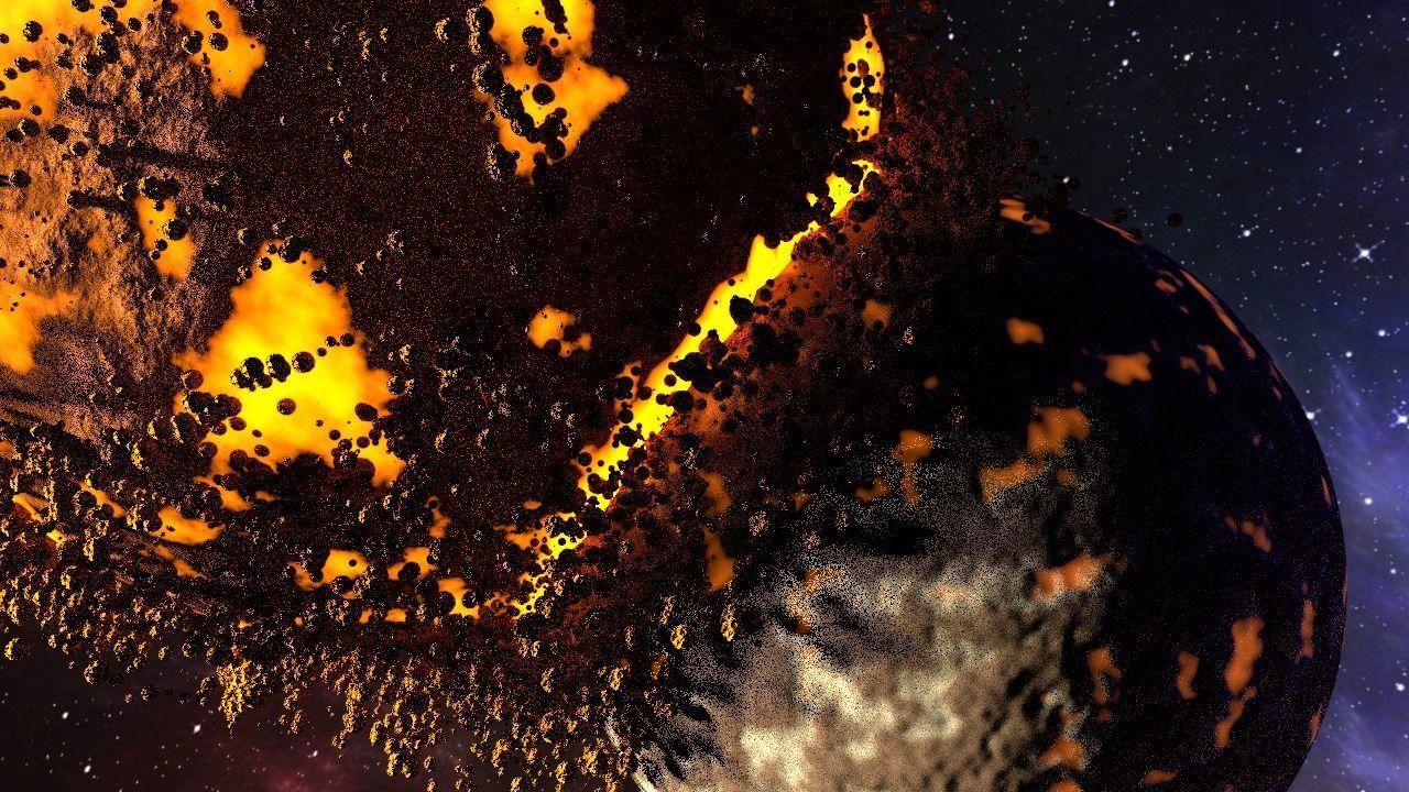 Shock of planet destruction ANIMATION