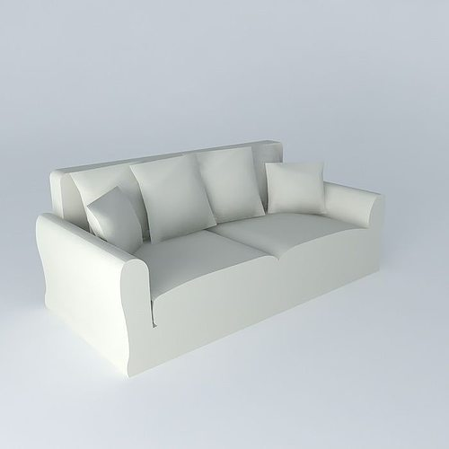 3 seater sofa sets linen bovary maisons du monde 3d model - Maison du monde sofa ...