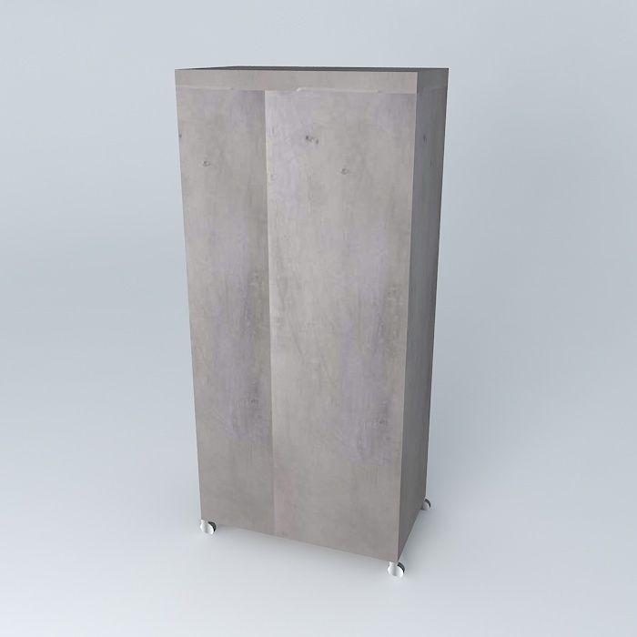 Dressing gray loft maisons du monde 1 3d model max obj for Canape loft maison du monde