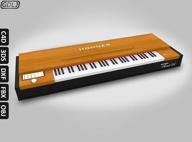 hohner clavinet d6 3d model obj mtl 3ds fbx c4d dxf 1