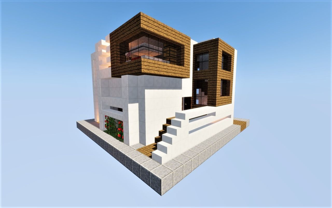 3d Model Modern House Minecraft Cgtrader