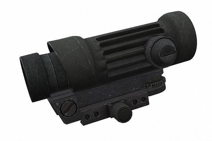 elcan m145 3d model obj mtl fbx blend 1