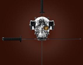 Skull and Sword 3D model