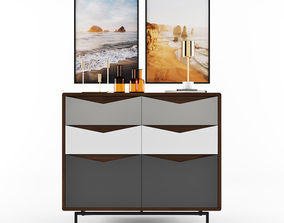 3D model Louis Wide Chest Of Drawers