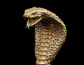 Cobra head Handle for walking Stick 3D print model